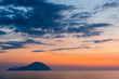 Quadro Beautiful colorful Filicudi and Alicudi eolian islands view at sunset in summer from Pollara in Salina island