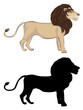 Lion with Silhouette