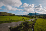 Road towards the Mountains - Welsh countryside