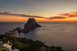 Savinar Tower and Es Vedra island at sunset, Ibiza, Spain
