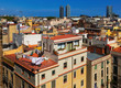 Summer day view of  old city. Barcelona. Catalonia,
