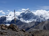 Snow capped mountain Chulu