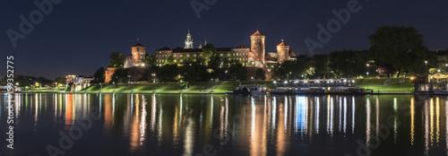 Fototapeta Panorama of Wawel Royal castle in Krakow, Poland