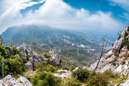 In de dag Cyprus The Kyrenia Mountain Range. Kyrenia (Girne) District, Cyprus
