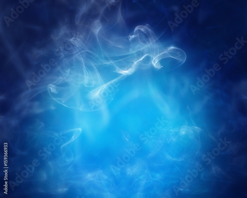Smoke over blue background - 159366933