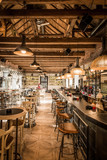 Restaurant with luxury woodn ciling - 159372904