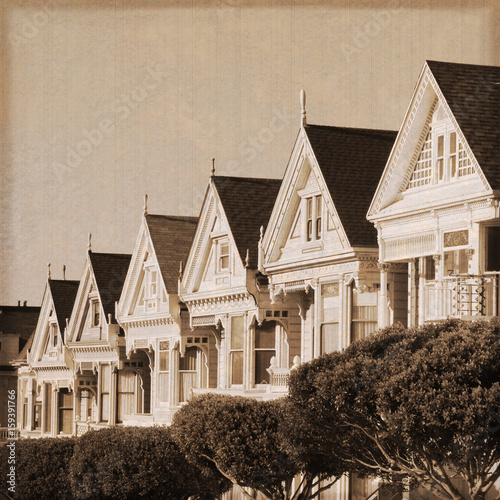 San Francisco - Painted ladies (Old photo effect)