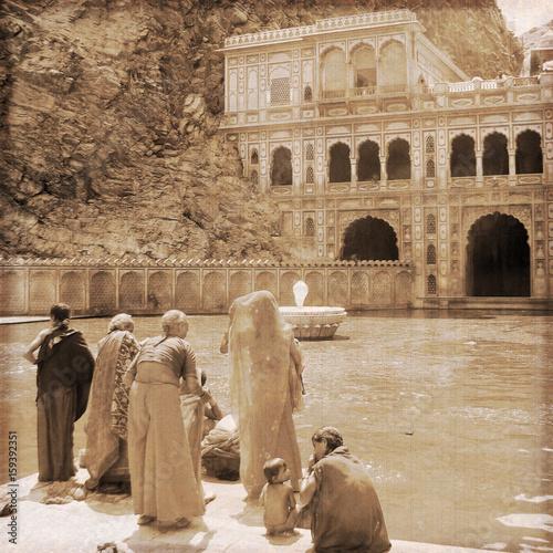 India - Jaipur / Monkey temple (Old photo effect)