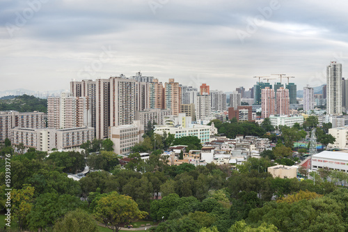 Panorama of Yuen Long District, Hong Kong city Poster