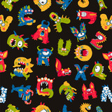 Pattern of cute monsters