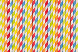 Fototapety Abstract multicolored rainbow geometric striped background of beverage straw.