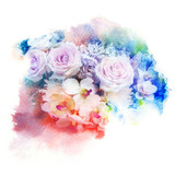 Flower watercolor illustration. - 159407361