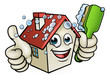 House Cleaning Cartoon Character - 159416919
