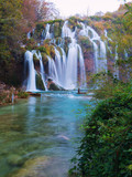 Plitvice lakes with beautiful colors and magnificent views of the waterfalls
