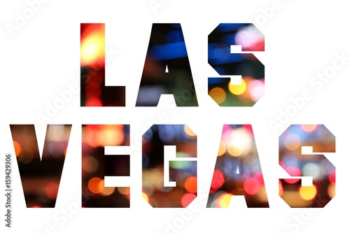 Deurstickers Las Vegas Las Vegas text