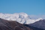 Snowy peak of the rosa mount