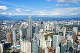 Aerial view of Kuala Lumpur skyline, Malaysia, Asia business travell concept