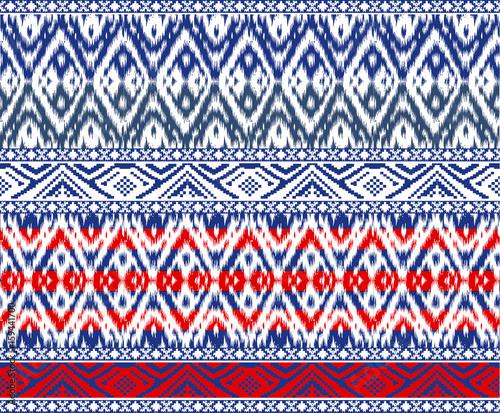 Cotton fabric seamless Tribal border Patterns