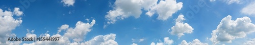Panorama with blue sky and clouds - 159441997