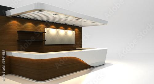 Bancone Bar, stand, esposizione, personalizzabile, vuoto