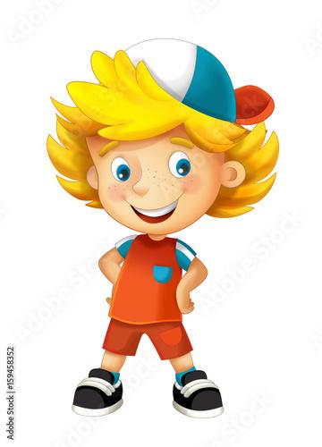 cartoon happy boy - illustration for children - 159458352