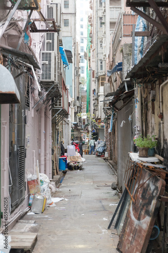 Poster Narrow Alley in Kowloon Hong Kong Hong Kong