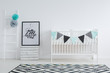 Quadro Black and white nursery