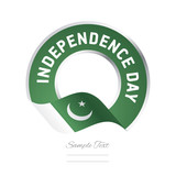 Independence Day Pakistan flag color label logo icon