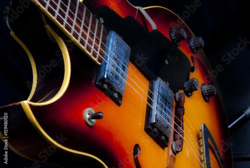Plakát old retro colorful electric guitar