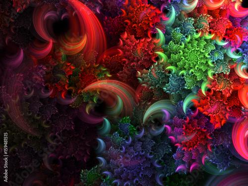 Helix Fuzzy Bright Background - Fractal Art