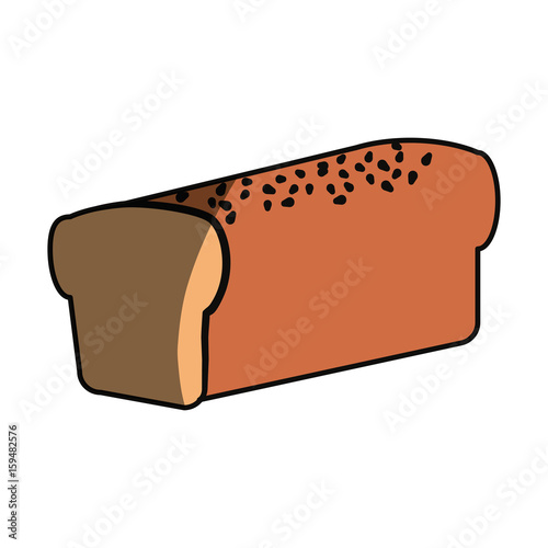 Fresh and delicious bread icon vector ilustration graphic