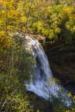 mountain waterfalls in the autumn