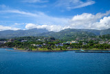 Papeete city view from the sea, Tahiti - 159491564