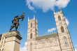 Notre-Dame Basilica and Maisonneuve Monument in Montreal