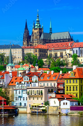 Mala Strana (Lesser Town of Prague) and Prague Castle Poster