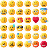 Smileys Emoticons Set gelb - 159502724