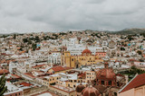 Beautiful view of the Mexican city of Guanajuato. Aerial view