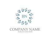 Abstract BN  Letter Monogram Elegant Logo Design