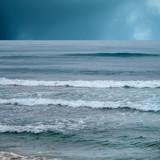 stormy day on beach - 159533553