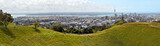 Panoramic View of Auckland City from Mount Eden.