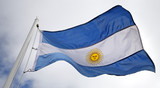 Flag of Argentina blowing in the wind