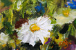 Original oil painting of flowers,beautiful field flowers on canvas. Modern Impressionism.Impasto artwork. - 159559504