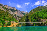The bridge over canyon and river Verdon