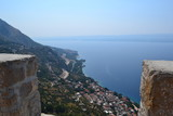 Ocean view in Omis with islands