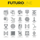 Video Production Futuro Line Icons