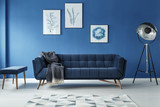 Fototapety Sofa, lamp and footstool in room