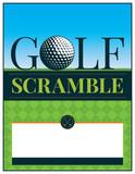Golf Tournament Scramble Flyer Illustration
