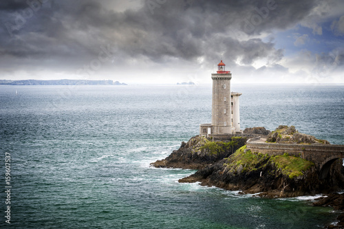 View of the Phare du Petit Minou in Plouzane, Brittany, France