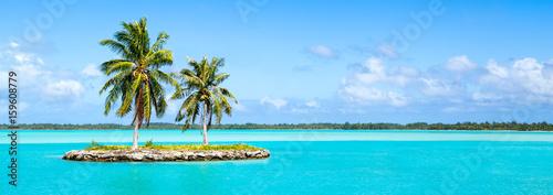 Urlaub auf einer einsamen Insel im Pazifik