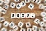 Seoul Stadt Süd-Korea Reise Reisen Würfel Business Konzept